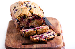 Berry, mint and spelt flour teacake Royalty Free Stock Photography