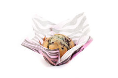 Berry muffin isolated on white background. Muffin isolated on white background Stock Photos