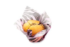 Berry muffin isolated on white background.  Royalty Free Stock Image
