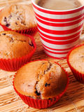 Berry muffins with coffee Stock Photography