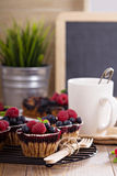 Berry muffins with oats Stock Photography