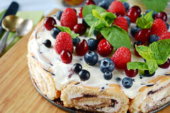 Berry no bake cheesecake Royalty Free Stock Image