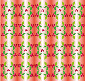 Berry ornament. Pattern on a gray background Royalty Free Stock Photo