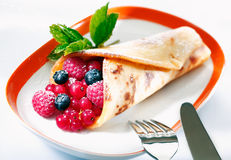 Berry pancake dessert Royalty Free Stock Photos