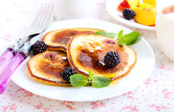 Berry pancakes Royalty Free Stock Photos