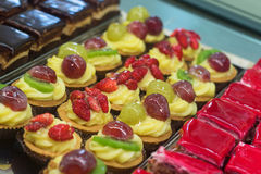 Berry pastries desserts closeup Royalty Free Stock Photo