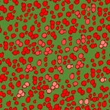 Berry pattern. Seamless patter backgroud full of cranberries Stock Photography