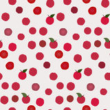 Berry pattern. Red apple pattern including seamless sample in swatch panel Stock Image