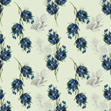 Berry on pattern Royalty Free Stock Images