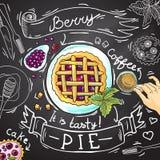 Berry pie Stock Image