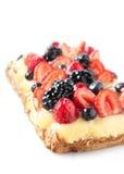 Berry pie and custard Stock Image