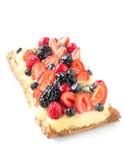 Berry pie and custard Stock Photo