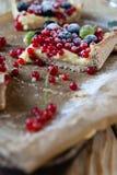 Berry pie with custard cream Royalty Free Stock Photography