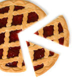 Berry pie with cut off  piece Stock Photography
