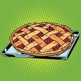 Berry pie on iron pallet Royalty Free Stock Photos