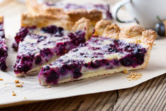 Berry pie layered with custard Royalty Free Stock Image