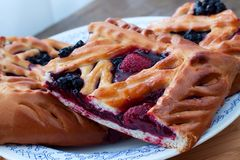 Berry pie Stock Photography