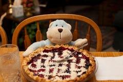 Berry Pie Ready completo a comer por Toy Monkey para uma refeição imagens de stock royalty free