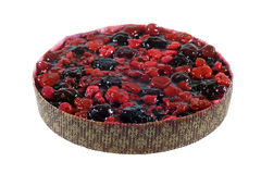 Berry pie/torte. Pie or torte topped with assorted glazed berries Royalty Free Stock Photo