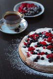 Berry pie. Very tasty. Dessert Royalty Free Stock Images