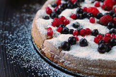 Berry pie. Very tasty. Dessert Stock Images