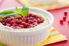 Berry pie in white baking dish Stock Image