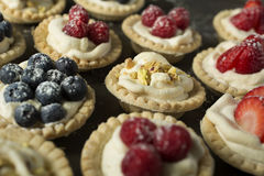 Berry pies Stock Images