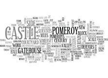 Berry Pomeroy Castle Word Cloud Image libre de droits