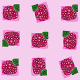 Berry raspberry. the pattern of schematically drawn raspberries. The pattern of schematically drawn raspberries Stock Photos