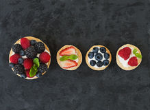 Berry and ricotta tarts Royalty Free Stock Photo