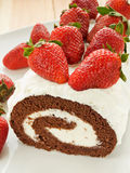Berry roulade Royalty Free Stock Images