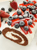 Berry roulade Stock Image