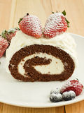 Berry roulade Royalty Free Stock Image