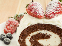 Berry roulade Royalty Free Stock Photos