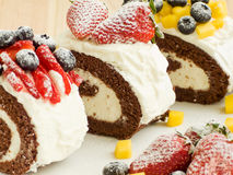 Berry roulades Stock Photo