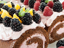 Berry roulades Stock Photography