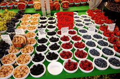 Berry's on a farmers market. Royalty Free Stock Photo