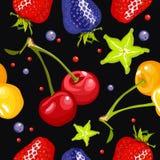 Berry seamless pattern Stock Photo