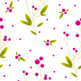 Berry seamless pattern. Elegant seamless pattern with stylized berries Royalty Free Stock Image
