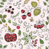 Berry seamless pattern Royalty Free Stock Photography