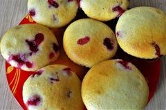 Berry Small Cupcakes stockfoto