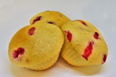 Berry Small Cupcakes lizenzfreies stockfoto