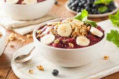 Berry Smoothie Bowl orgânico saudável Imagem de Stock