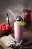 Berry smoothie and meringue Stock Photography