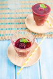 Berry Smoothie with Mint Stock Photos