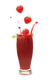 Berry smoothie splash Royalty Free Stock Image