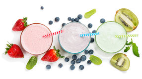 Berry smoothie, view from above Stock Image