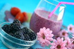 Berry smoothies Stock Photography