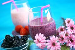 Berry Smoothies Royalty Free Stock Photography