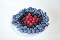 Berry. Some sort of berries: blueberries, blackberries, raspberries Stock Photography